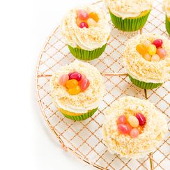 Toasted Coconut Easter Egg Nest Cupcakes