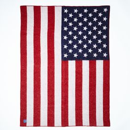 American Flag Wool Throw