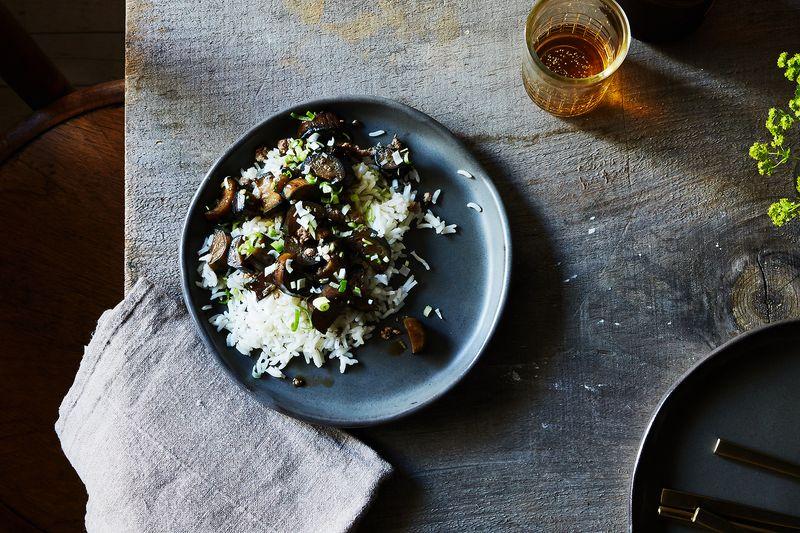 Grace Young's Stir-Fried Garlic Eggplant with Pork
