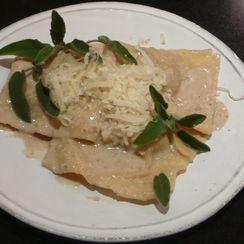 Veal Ravioli with Walnut Sauce