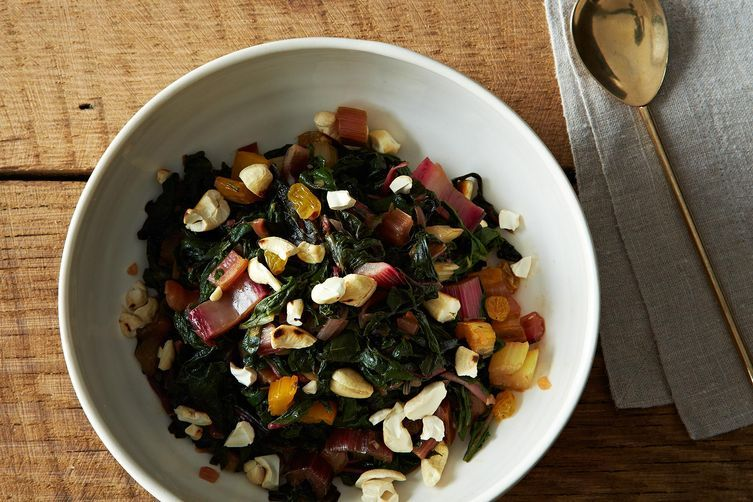 Rainbow Chard with a Maple-Vinegar Drizzle from Food52
