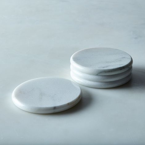 Round Vermont Marble Coasters (Set of 4)