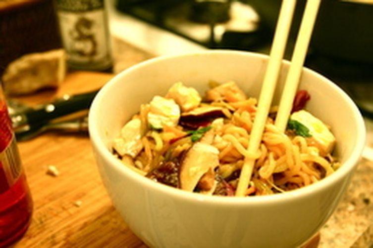 Ramen Stir-fry with Sesame, Shiitake, & Ginger Recipe on ...