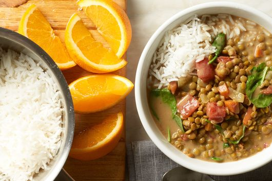 Slow-Cooker Indian-Spiced Lentils With Spinach