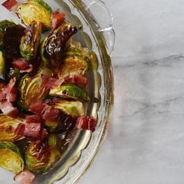 Spicy Shallot Roasted Brussels Sprouts