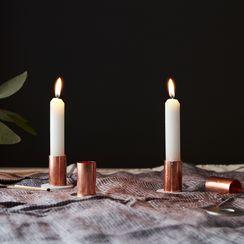 DIY Metallic Candlesticks That'll Only Run You $1 Each