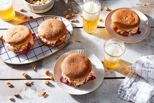 Sheet-Pan Reuben Sandwiches