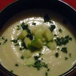 Look Ma No Dairy! - Creamy Parnsnip Soup with Granny Smith Apples (Vegan, Gluten Free)