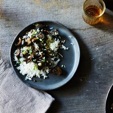 Grace Young's Stir-Fried Garlic Eggplant with Pork