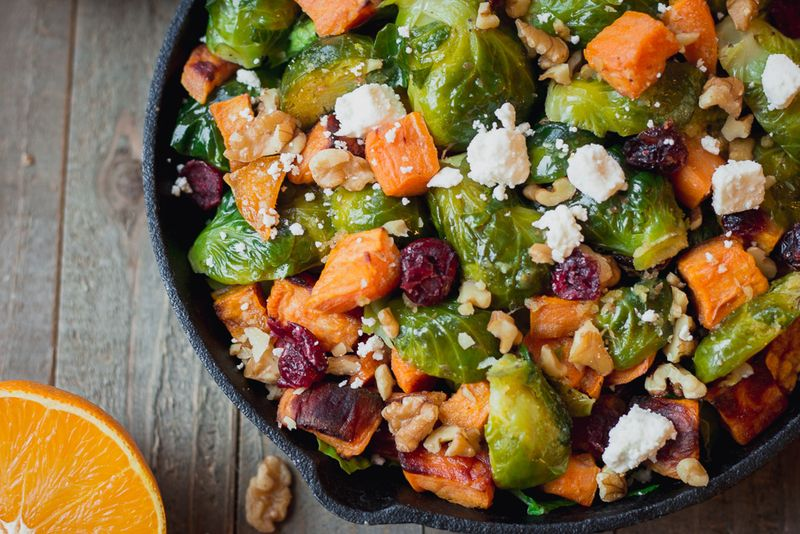 Orange-Glazed Brussels Sprouts