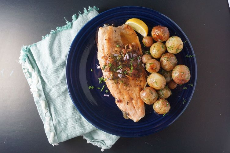 Rainbow trout & grilled new potatoes