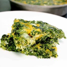 Cheesy Spinach Squares