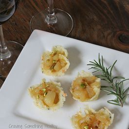 Pear and Montasio Tartlets