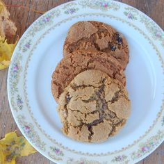 Maple Ginger Raisin Cookies
