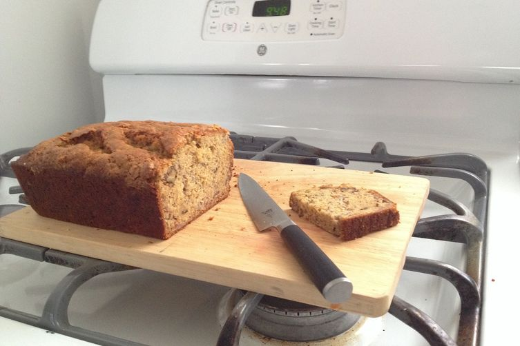 Cracked Top Olive Oil Banana Bread