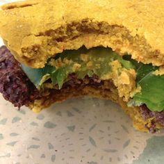Blackberry Peach Quinoa Burgers on Sweet Potato Buns