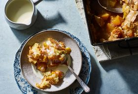 A Genius Peach Cobbler With a So-Wrong-It's-Right Hot Sugar Crust
