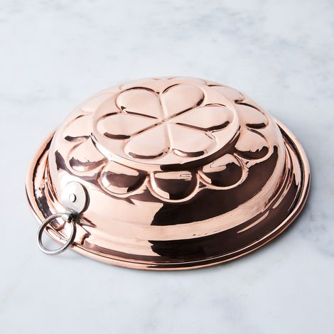 Vintage Copper French Pie Mould, Late 19th Century