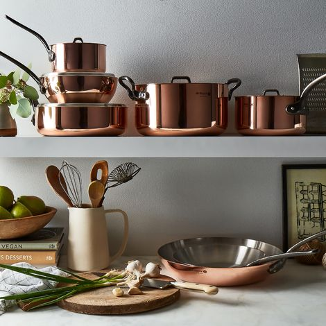 de Buyer French Copper Fry Pan