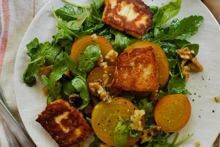 Golden Beet, Halloumi, and Walnut Salad Recipe on Food52