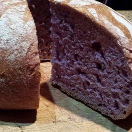 Simply Elegant Purple Cabbage Sourdough Bread