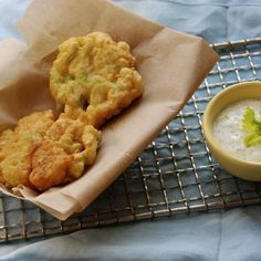 Celery Fritters with Herbed Sauce