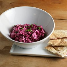An American Patzaria - Creamy Beet Spread with Blue Cheese and Bacon