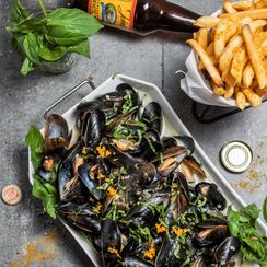 BELGIAN WIT MUSSELS WITH COCONUT MILK