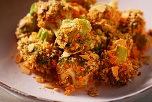 Bibigo's Cheesy Broccoli Tots with Go-Chu-Jang Hot & Sweet Sauce