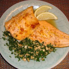 Oven Baked Maple and Citrus Arctic Char with Gremolata