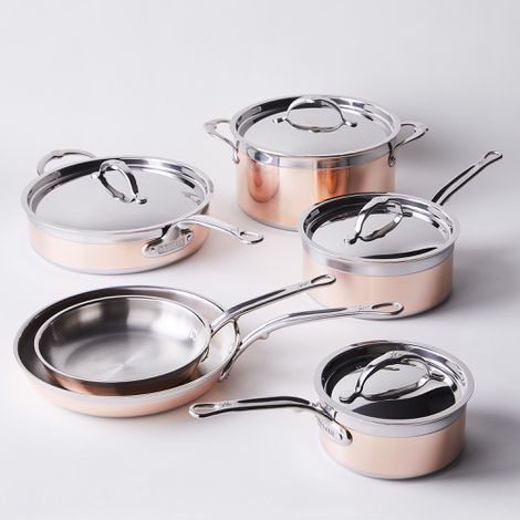 Hestan Copperbond Induction Copper Cookware, 10 Piece Set