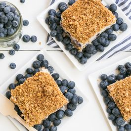 Blueberry Crunch Icebox Cake