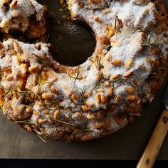 Dario's Olive Oil Cake with Rosemary and Pine Nuts