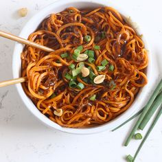 Thai Peanut Sweet Potato Noodles