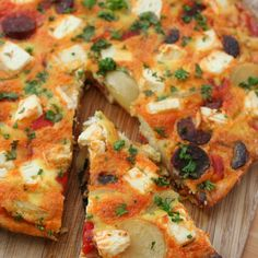 Chorizo, Red Pepper and Feta Frittata