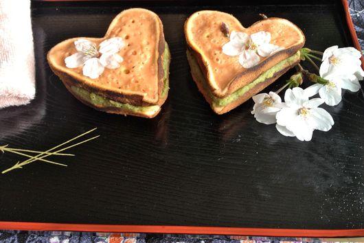 Cherry-Blossom Dorayaki with Cinnamon-Edamame Filling
