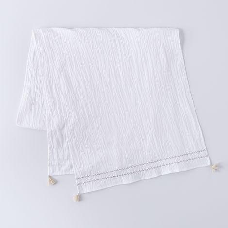 Crinkled Cotton Table Runner