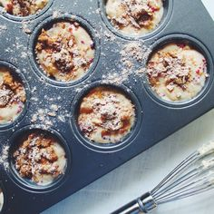 Peach and Raspberry Muffins with Cinnamon Honey Crumble