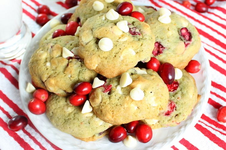 Cranberry Orange Creamsicle Cookies