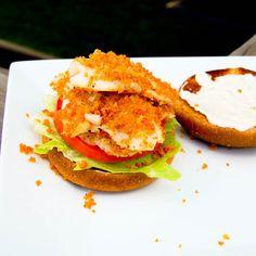 Flaky Fish Sandwich
