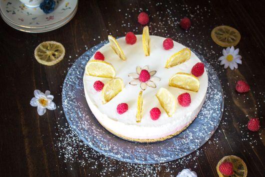 Rustic Easter Lemon Raspberry Rare Cheesecake