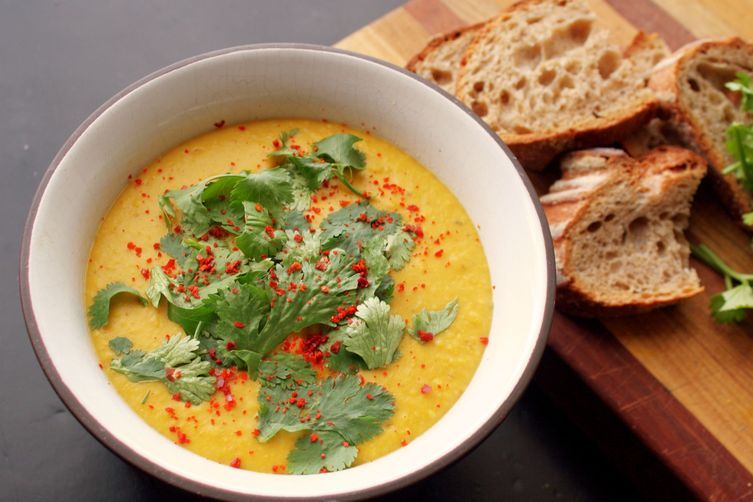 Curried Sweet Potato and Coconut Soup