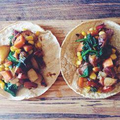 Rustic potato tacos