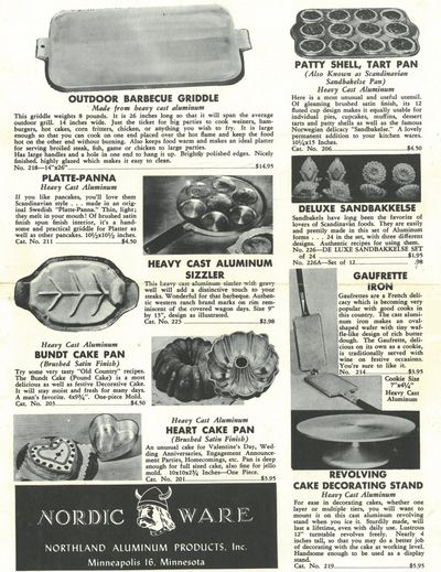 The original Bundt, amongst other Nordic Ware offerings in a catalogue from 1948.