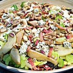 Celery,pear and blue cheese salad.