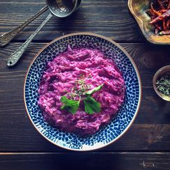 Purple Carrot Meze ( Tarator )