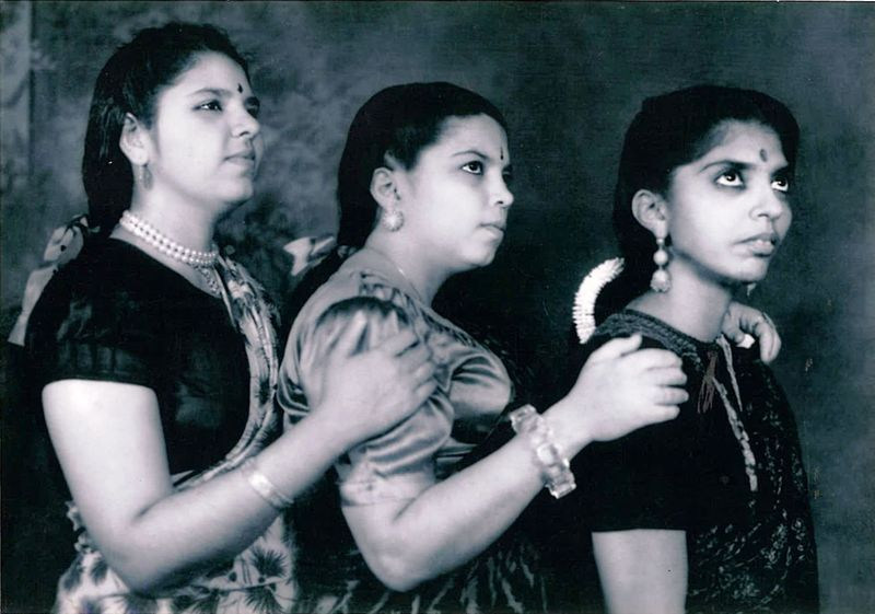 Three Hindu sisters, circa 1947. Published with permission from J. Thakur Bakshani and family.