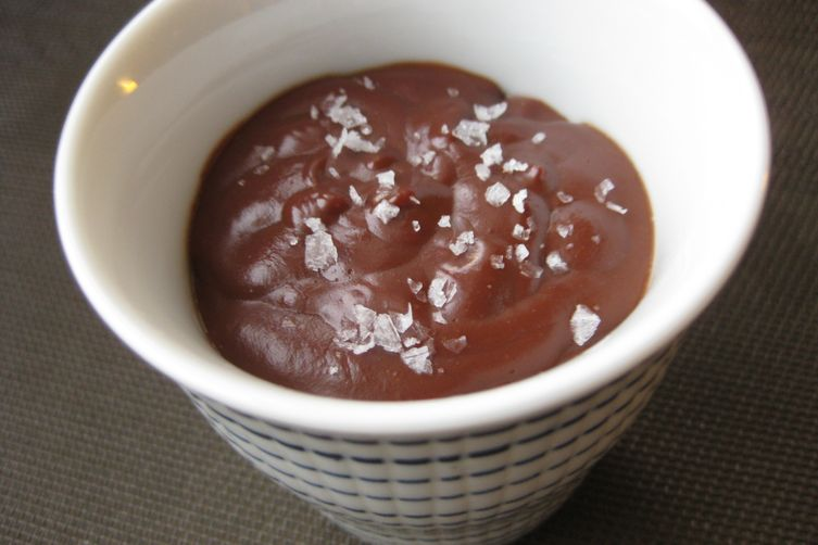 Cinnamon Chocolate Pudding with Sea Salt