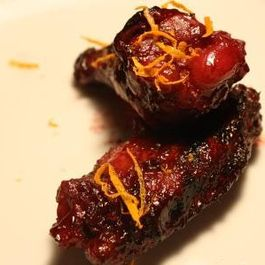 Sticky Blackberry Honey Hot Wings