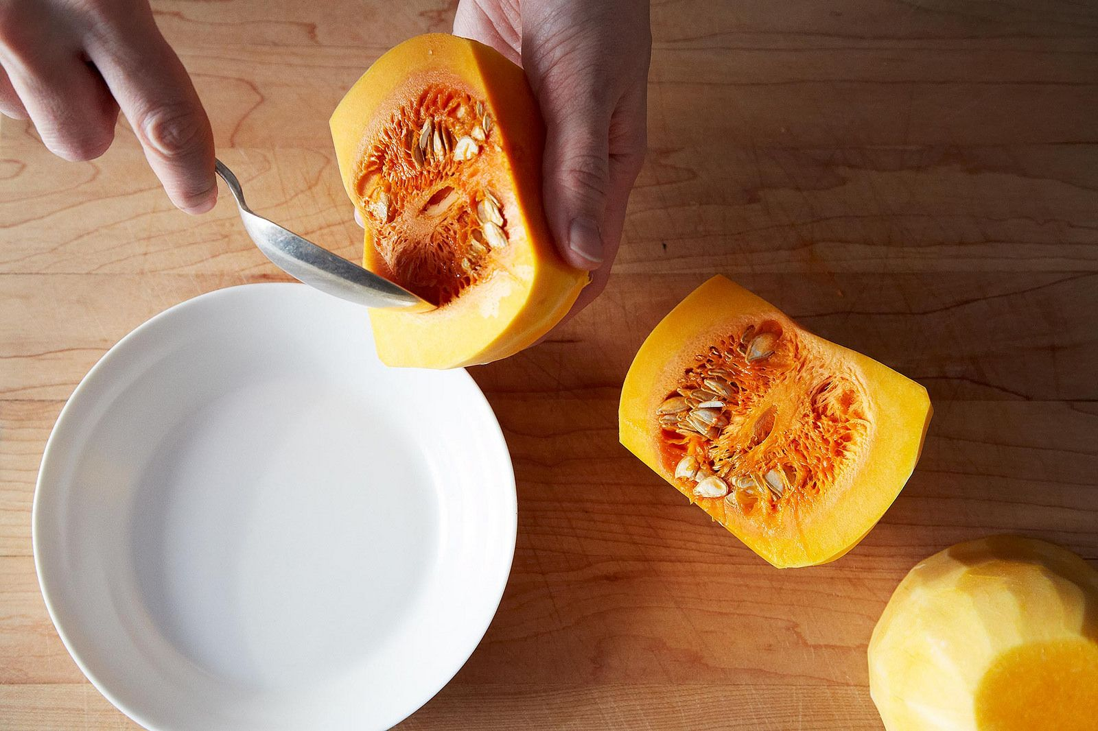 Breaking Down a Butternut Squash